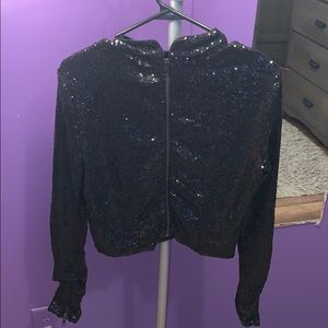 Kendall and Kylie black sequin shirt